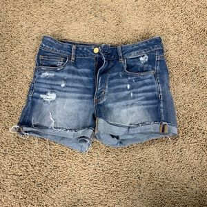 Four pairs of American Eagle jean shorts